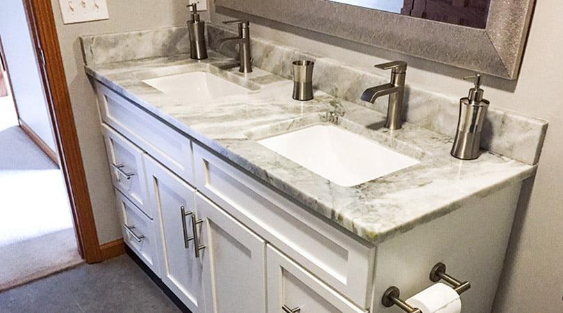 Kitchen Refresh Of Michigan bathroom cabinet painting