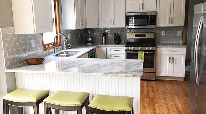 Kitchen Refresh Of Michigan cabinet painting